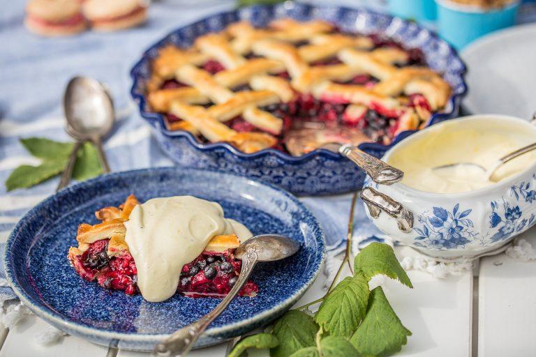 málnás-áfonyás pite a nyár svéd íze
